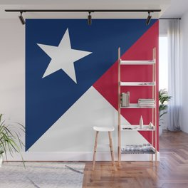 State flag of Texas, banner version Wall Mural