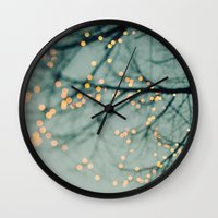 lights Wall Clocks featuring Lights  by Laura Ruth