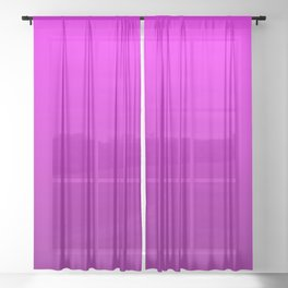 Modern Bright to Dark Magenta Ombre Sheer Curtain