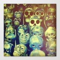 skulls Canvas Prints featuring skulls by Bunny Noir