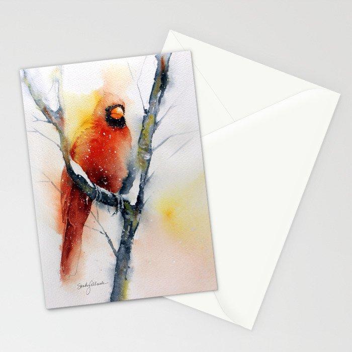 Winter Cardinal Stationery Cards