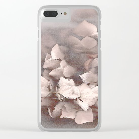 Faded Beauty Clear iPhone Case