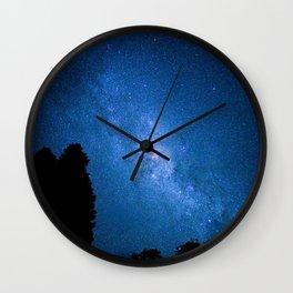 Milky Way from Coromandel, New Zealand Wall Clock