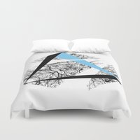 hexagon Duvet Covers featuring Hexagon by ADGPC