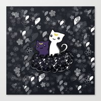 sailormoon Canvas Prints featuring Sailormoon Luna and Artemis by Mayying