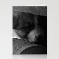 puppies Stationery Cards featuring Puppies  by Alexandra Sas