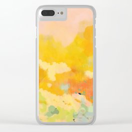 abstract spring sun Clear iPhone Case