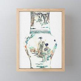 A GILT-BRONZE MOUNTED FAMILLE-VERTE YEN YEN VASE watercolor by Ahmet Asar Framed Mini Art Print