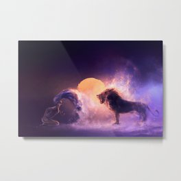LEO from the Dancing Zodiac Metal Print