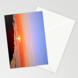 Kayak Silhouette at Sunset Stationery Cards