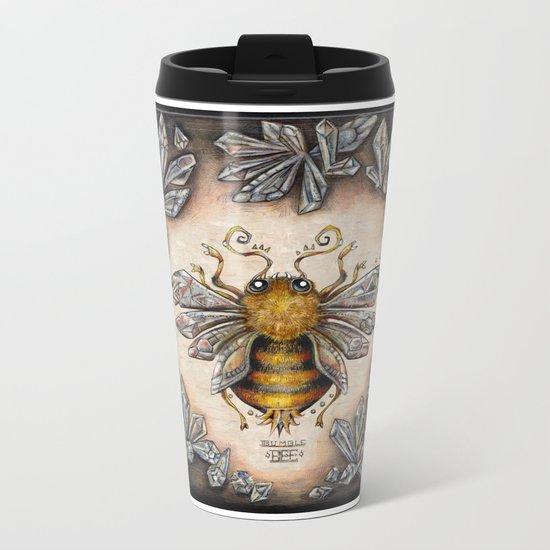Crystal bumblebee Metal Travel Mug