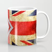 uk Mugs featuring Flags - UK by Ale Ibanez