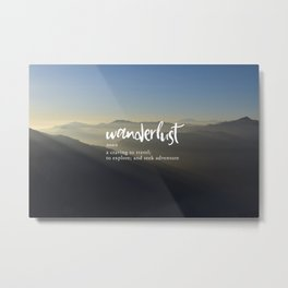 Wanderlust Definition - Misty Mountains Metal Print