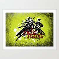 ride hard - BMX Art Print
