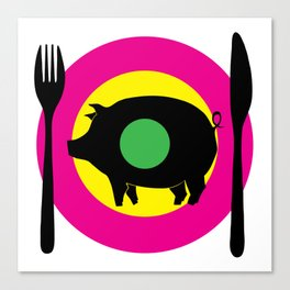 oink oink Canvas Print