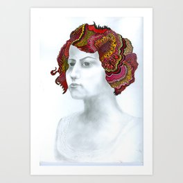 Painted Lady #1 For Sale!!!! Art Print