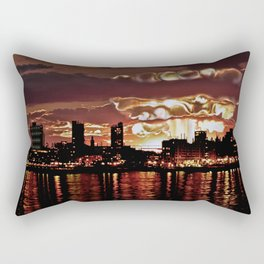 Angry Sunset. Rectangular Pillow