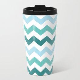 Chevron forest Travel Mug
