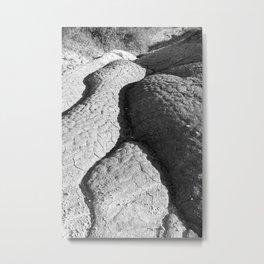 Cracked trail Metal Print
