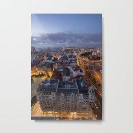 The city glowing Metal Print