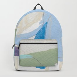 stone by stone 3 - abstract art fresh color turquoise, mint, purple, white, gray Backpack