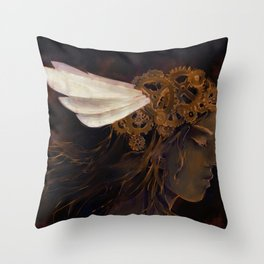 Clockwork Crown Throw Pillow