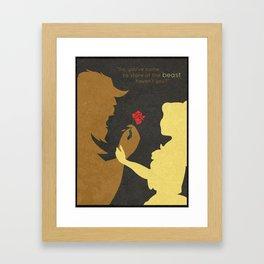 Beautiful Beast Framed Art Print