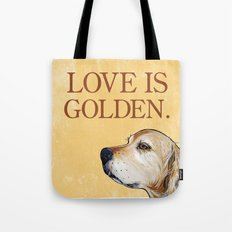 Love is Golden Tote Bag