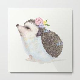 Baby Hedgehog Metal Print