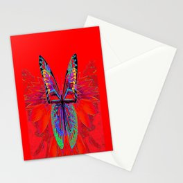 Infra-red Fantasy Butterfly Pattern Abstract Stationery Cards