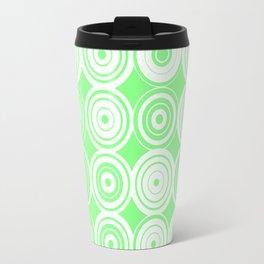 Green circles Travel Mug