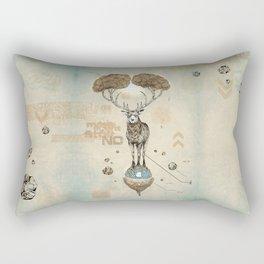 Asteroid Brain Diagnostics // (metaphysical deer) Rectangular Pillow