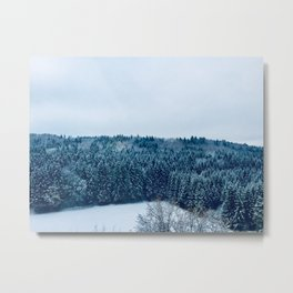 Winter Landscape Photography Metal Print