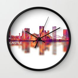 Newcastle UK Skyline Wall Clock