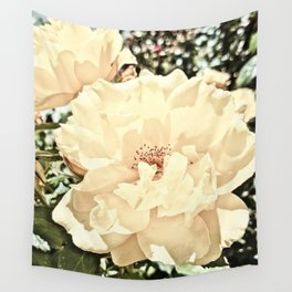 Sandy Pink Roses With Bokeh Wall Tapestry