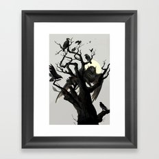 Black Tree Framed Art Print