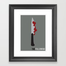 The Following - Minimalist Framed Art Print