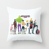 band Throw Pillows featuring Band by Andres Moncayo