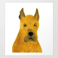 great dane Art Prints featuring Great Dane by ITSUKO SUZUKI