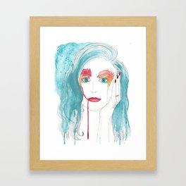 Crying girl. Framed Art Print