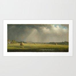 Landscape Fields Painting Art Print