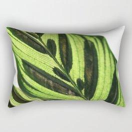 Green Leaf Rectangular Pillow