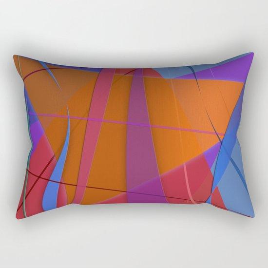 Abstract #430 Sailing Rectangular Pillow