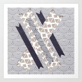 100 Days of Hybrid Type: X Art Print