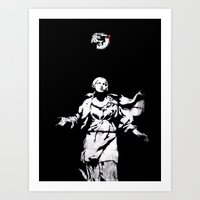 guns Art Prints featuring Holy Guns by MRCRMB