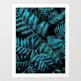 Teal Bracken Art Print
