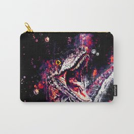 velociraptor dinosaur close up wsfn Carry-All Pouch