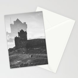 Ross Castle in Ireland - Black and White Double Exposure Stationery Cards