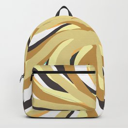 Geometric vane decor. abstract. colorful. gold. white. Backpack