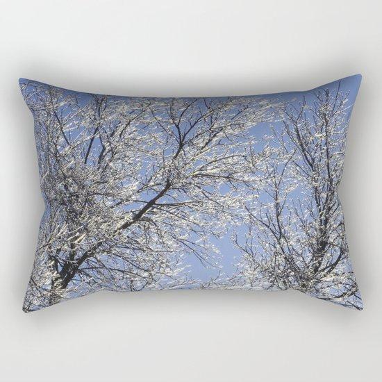 Sparkling Iced Branches Rectangular Pillow